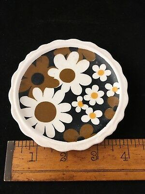Vintage Flower Power Napcoware Saucer Hippie Mini Japan Tiny Daisies Collectible