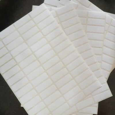 13x38mm Small White MATT Labels Sticky Stickers Blank Self Adhesive Price Tags
