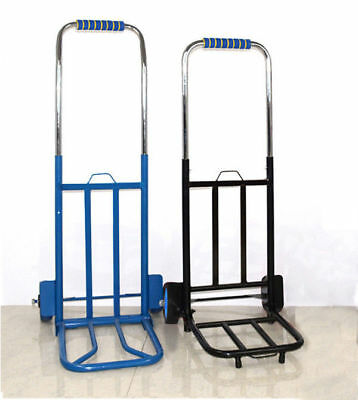 New Durable Collapsible Electroplate Hand Truck Trolley For Warehouse Cart Load