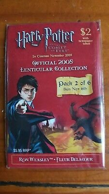 Harry Potter & The Goblet of Fire Lenticular Trading Cards 2005 Pack 2 of 6 NWT