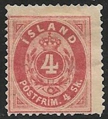 ICELAND 1873 4s Numeral Issue Mint No Gum - Perf. 14x13.5 (Jul 023)
