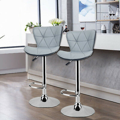 2  BARCELONA GREY Bar Stools Barstools Kitchen Pub Stools Breakfast Bar Chairs