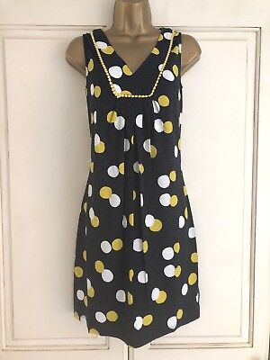 22475a2b49c New Ex Boden Tarifa Navy Blue Lime Spot Print Tunic Shift Dress Size 6 - 20