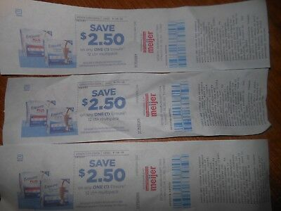 3 Coupons For Meijer 2.50 Off 12ct Ensure multipack- 7.50 total + 5X 1.00 coupon