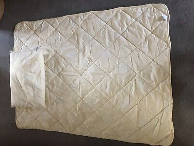 Mothercare wool cot bed duvet/pillow set immaculate
