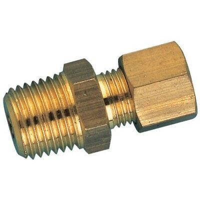 6mm Compression x 1/8 BSP Male Adaptor | Brass Plumbing Fitting