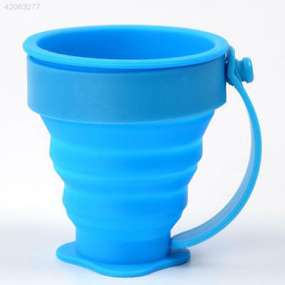 E5F0 Silicone Collapsible Cup Folding Cup Portable Drinking Outdoor Travel Cup