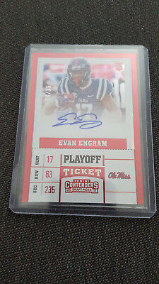 2017-18 Panini Contenders Playoff Ticket Auto Evan Engram /15 NY Giants Ole Miss