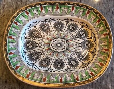 "Large 17"" Antique Brownfield & Sons CYPRUS PLATTER Aesthetic Period Transferware"