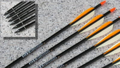 "6 Carbon-Pfeile EASTON POWER FLIGHT ""FIELD"" 500, 400 oder 340"