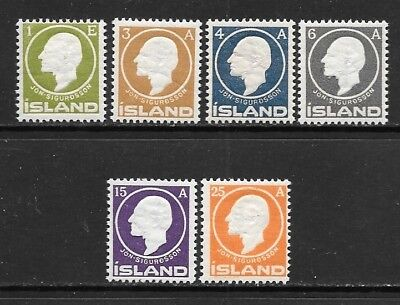 ICELAND 1911 Sigurdsson Embossed Mint Never Hinged Complete Set (Jul 030)