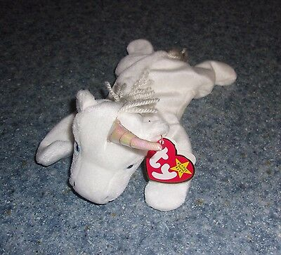 Brand New Retired Ty Beanie Baby Mystic the Unicorn RARE With Tag Errors