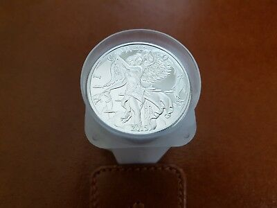 Tube of 20 x Silver Nike coins 2015, full original tube of 1 Oz silver coins