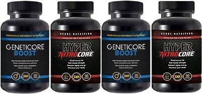 Geneticore Boost 2X 90Caps & Hyper Nitro Core 2X 60Caps -Free Shipping Worldwide