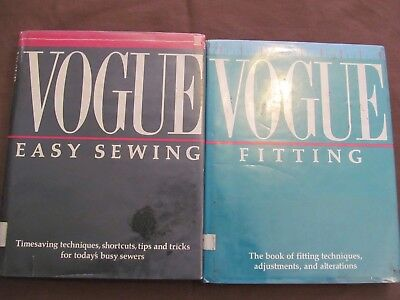 VOGUE FITTING  &  VOGUE EASY SEWING  -  2 hb books