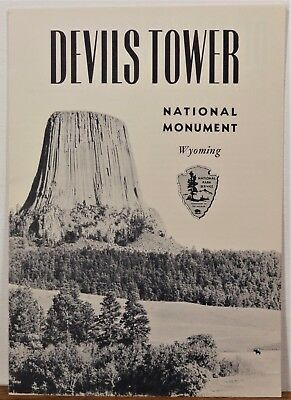 1953 Devils Tower National Monument Wyoming vintage info travel brochure & map b
