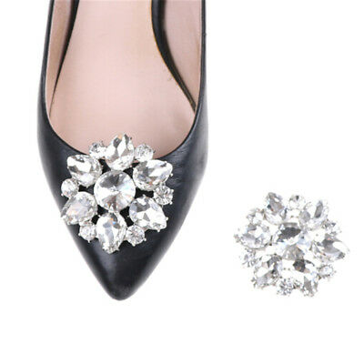 1PC Crystal Rhinestones Shoe Clips Women Bridal Prom Shoes Buckle Decor YED