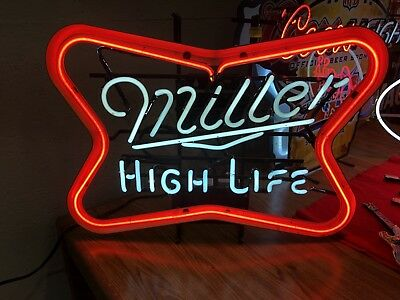 Vintage Miller High Life Beer Neon Tavern Bar Sign