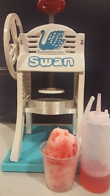 Shave Ice Machine , Syrups And Untensils