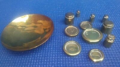 Vtg W&T AVERY LTD and other solid brass weights for scales