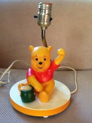Sears Winnie The Pooh Musical Lamp - Vintage Working Childs Room Decor