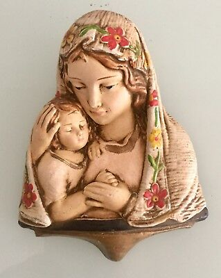 Vintage Madonna and Child Wall Plaque Jesus Blessed Mother Mary House Of Lloyd