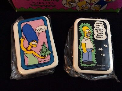 The Simpsons Vintage 90s Magnets Marge & Homer Matt Groening - Set Of 2 Magnets