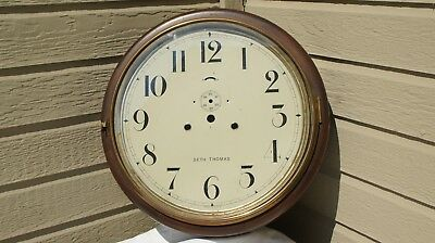 Rare Large Antique Seth Thomas Round 15 Day Gallery Wall Clock Case Only