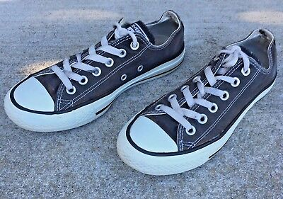 1234a6aee0fa3a Converse All Star h Women Size 7 Men Size 5 Black Canvas Low Top Sneaker  Shoes