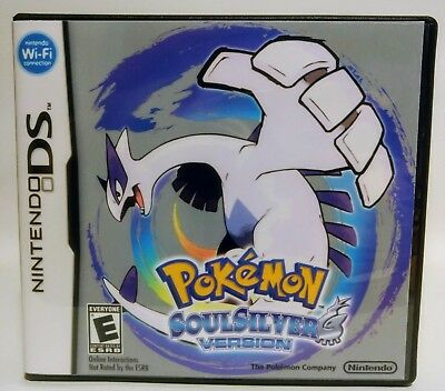 Pokemon Soul Silver DS Replacement CASE - Black Case (*NO GAME*)