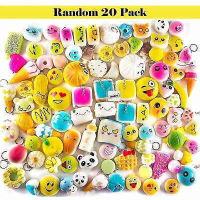 Random 20Pack Jumbo Medium Mini Soft Squishy Panda/Bread/Cake Slow Rising Toys