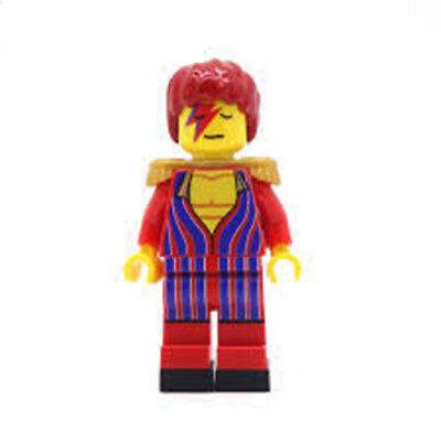 USA NEW David Bowie Doll Mini Figure Collectible Blocks Sealed Lego Compatible