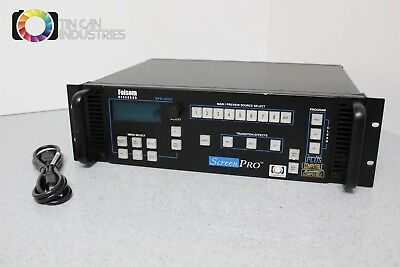 Folsom Screen Pro SPR-2000-G Seamless Video Switcher Fully Tested FREE SHIPPING