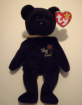 The End - The End the Bear - TY Beanie Baby - NWT - Retired