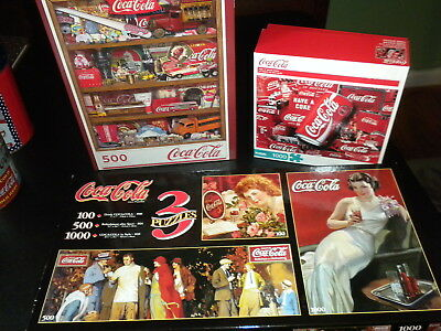 Coca Cola Puzzles (5) All Different-For That Puzzle Person