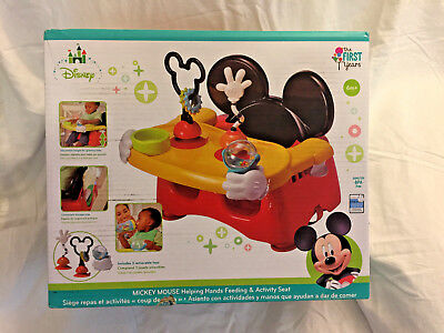 New Mickey Mouse Helping Hands Feeding & Activity Set, Free Shipping!