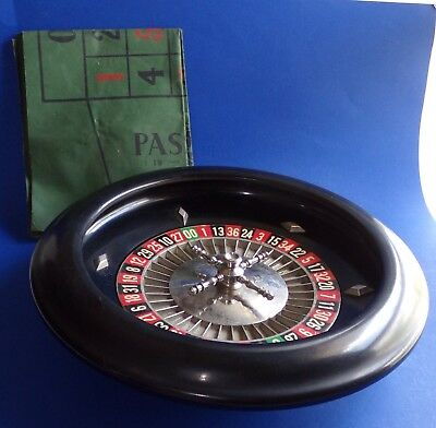 Roulette Wheel with Cloth Table Made in England K&C London