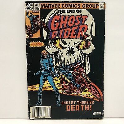 Marvel Comics 1983 The End of Ghost Rider 81 Final Issue Little Worn