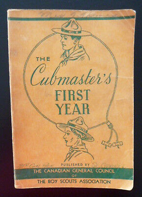 Vintage Cubmaster's First Year Manual 1952 Cubs Boy Scouts Leadership Guide Game