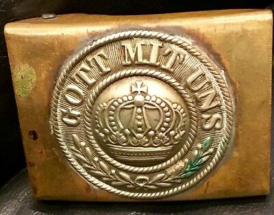 Imperial German, Brass Enlisted Man's Belt Buckle, Pre-WW 1, Kingdom of Prussia