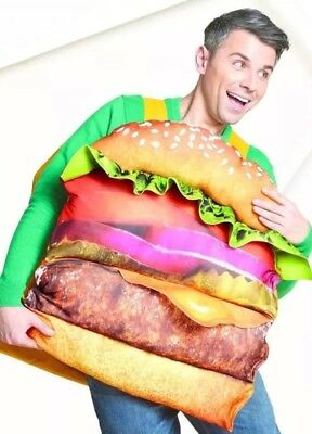 NWT Hyde & Eek! Boutique Kids Adult Hamburger Costume One Size Fits Most