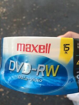 NEW Maxell DVD-RW 120 Min 4.7 GB Data Video Music ReWriteable 15Pack