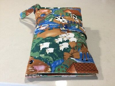 Nappy Wallet With 4 Pockets, On The Farm, Handmade, New, Post Free, (W4)
