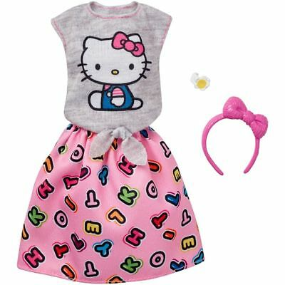 For All Barbie Doll Hello Kitty Fashion Set Gray Top Skirt