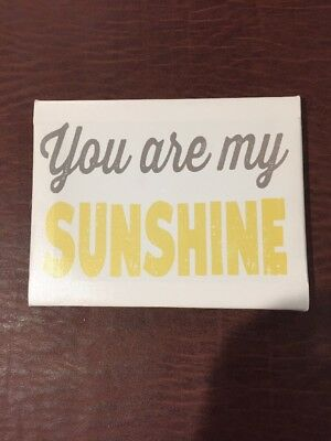 """Canvas 'You are My Sunshine' Wall Art (Louise Carey) 6.5"""" x 8.5"""""""