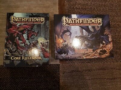 Pathfinder core rulebook and beginner box ROLE PLAYING GAME LOT OF 2 MAKE OFFER
