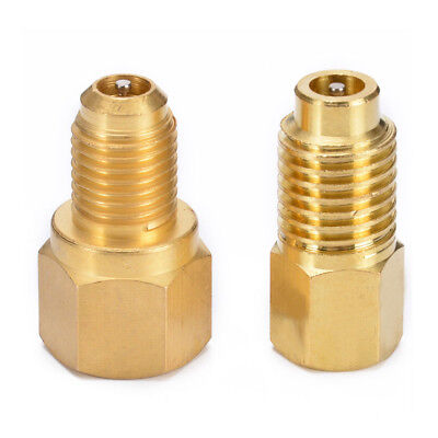 2* R134 to R12/ R12 to R134a Brass Heavy Duty Tank Vacuum Pump Adapter Tool Set