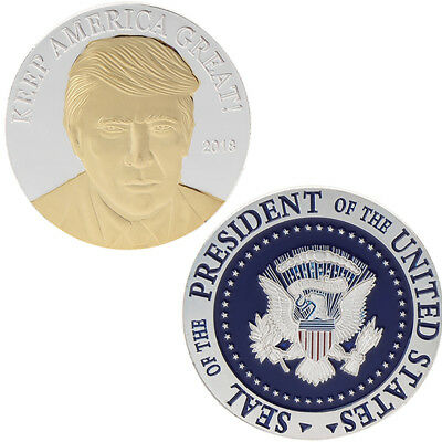 USA American President Trump Commemorative Coin Collection Silver Gifts Souvenir