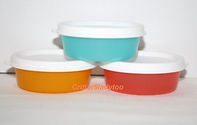 NEW Tupperware Lot of 3 Mini Snack Cups or Large Smidgets