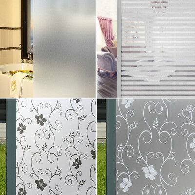 2X Bathroom Clear Privacy Frosted Frosting Window Glass Film Removable 200x 45CM